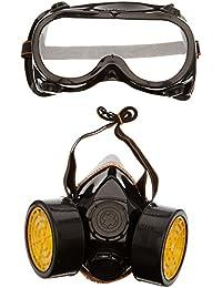 TRIXES Protection de peintre 2 pièces masque respirateur et lunettes