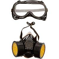 TRIXES Accesorio Traje de Fantasía 2 Piezas Máscara de Gas Gafas/Máscara para Respirar - Ideal para Carnaval!