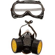 TRIXES Accesorio Traje de Fantasía 2 Piezas Máscara de Gas Gafas/Máscara para Respirar -