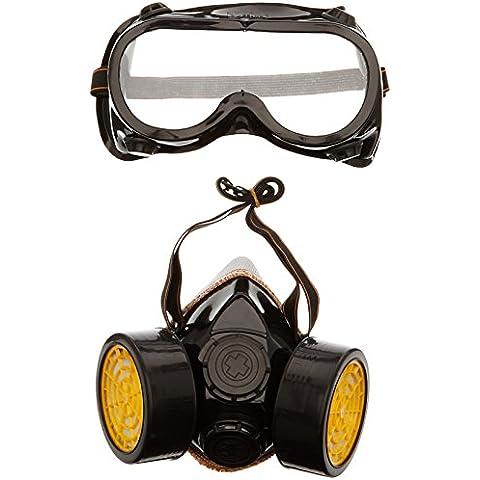 TRIXES 2 pz. Maschera respiratoria doppia cartuccia per polvere vernice