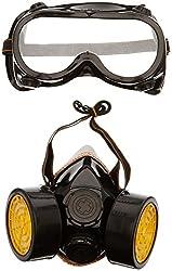 Trixes 2 x Atemschutzmaske und Schutzbrille gegen Staub und Farblack mit zwei Filtern, Ideal für Kostüme