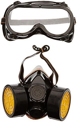 TRIXES 2 Piece Gas Mask Fancy Dress Accessory Respirator