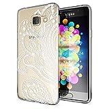 NALIA Handyhülle für Samsung Galaxy A3 2016, Slim Silikon Motiv Case Hülle Cover Crystal Schutzhülle Dünn Durchsichtig Etui Handy-Tasche Backcover Transparent Phone Bumper, Designs:Artificial Flowers