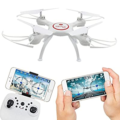 TWIFER X5UW 4CH 6-Axis FPV RC Quadcopter Wifi Camera Real Time Video 2 Control Modes WH