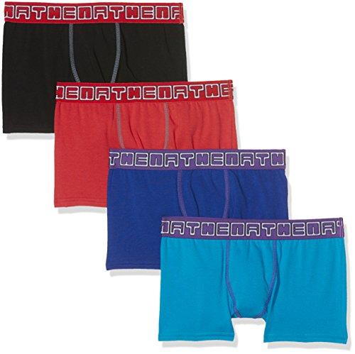 athena-lot-de-4-junior-choc-boxer-garcon-multicolore-turquoise-indigo-noir-rouge-16-ans-taille-fabri