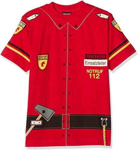 COP Kinder T Shirt FEUERWEHR, Rot, 128, 32TKF (Cop Kostüme Kinder)