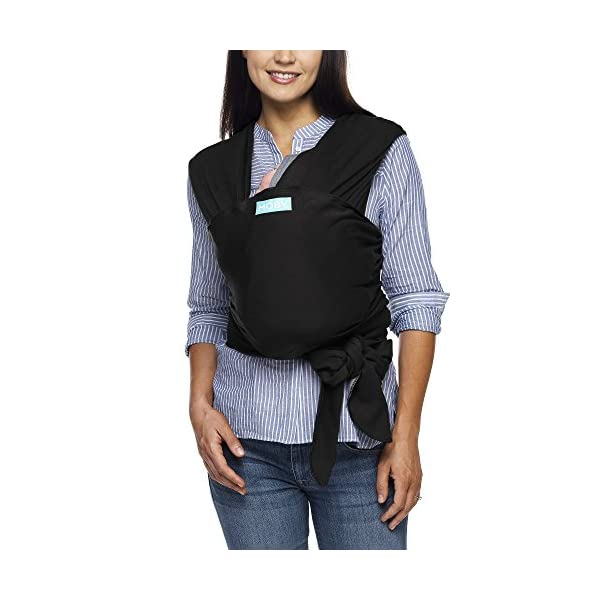 MOBY Evolution Baby Wrap Carrier for Newborn to Toddler up to 30lbs, Baby Sling from Birth, One Size Fits All, Breathable Stretchy Made from 70% Viscose 30% Cotton, Unisex Moby 70% Viscose / 30% Cotton Knit One-size-fits-all Grows with baby, from newborn to toddler 15