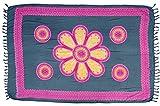 Guru-Shop Sarong, Wandbehang, Wickelrock, Sarongkleid, Herren/Damen, Grau, Synthetisch, Size:One Size, 160x110 cm, Sarongs, Strandtücher Alternative Bekleidung