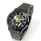 Timelyo®, orologio da uomo, automatico, colore: nero, in acciaio