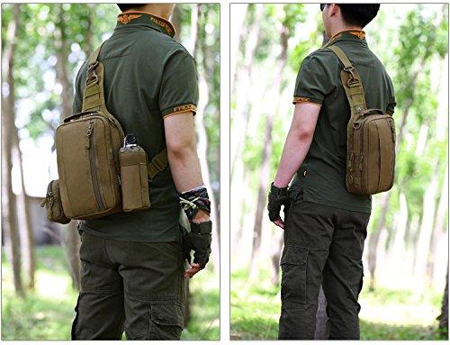 Herren Bodybag Freizeit Sport Brusttasche Umhängetasche Crossbag Schultertasche Bauchtasche,Schwarz Dunkelbraun