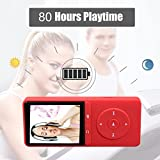 from FecPecu MP3 Player, FecPecu 80 Hours Playback 8GB Music Player Hi-Fi Sound, With FM Radio and Voice Recorder Function, Support Expandable up to 64GB (Red) Model PB20-A-mp3