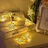 Decorative Light Metal Star 20 LED Fairy String Lights For Diwali Christmas Decoration By Techno E-Tail