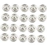 20 Pc Silver Tone Metal Ropa Reparación Broche De Presión Sujetador De Prensa Botones