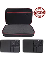 DEYARD Shockproof Extra Large Size Storage Bag and Carrying Case XL for GoPro HD Hero5 Hero5 Session Hero4 Session Hero 4 Hero3+, 3, 2 Silver Black Edition Camera and Essential Accessories
