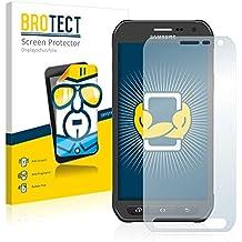 2x BROTECT Protector Pantalla Samsung Galaxy S6 Active SM-G890A Película Protectora – Transparente, Anti-Huellas