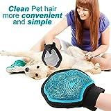 Poppypet Fellpflegehandschuh Bürste für Hunde, Fellpflege Hundebürste mit Gummi Noppen,Shampoo Bürste Massagehandschuh, Entfernt lose Haare, massiert Ihren Hund - 2