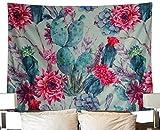QEES Kakteengewächse Wandteppich Wandbehang Wanddeko Tischdecke Strandtuch Sofa Tuch Vorhang (GT11-cactus 10)