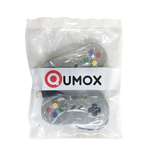 51joxyokV5L. SS600  - QUMOX 2 x Nintendo Juego de PC Gamepad Controlador SFC Mando de Juego para Super Famicom Windows PC USB