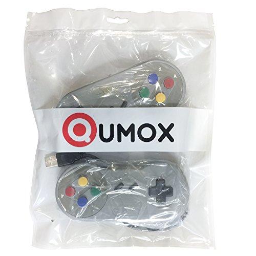51joxyokV5L - QUMOX 2x Nintendo juego de PC GamePad controlador SFC para Super Famicom Windows PC USB