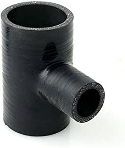 AutoSiliconeHoses 63mm ID Black 300mm Length Straight Silicone Coupling Hose