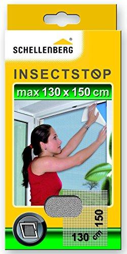 Schellenberg 50714 Fliegengitter für Fenster | zuverlässiger Schutz vor Mücken, Fliegen, Insekten & Ungeziefer | Maße: 130 x 150 cm | weiß | einfache Montage ohne bohren | inkl. Befestigungsband