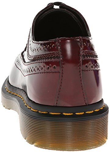 Dr. Martens 3989 Cambridge Rub Off, Chaussures de ville femme Rouge (Cherry)