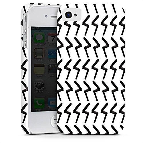 Apple iPhone X Silikon Hülle Case Schutzhülle Black Jack Abstrakt Muster Premium Case glänzend
