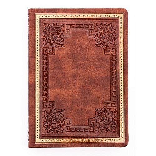 LKJH Notizbuch HardcoverAltes Buch Tagebuch Vintage Manuskript Reisetagebuch, Braun, 14x20cm