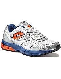Zapatos Hombre Lotto Art r8456Zenith VI, Bianco - Blu - Arancione, 45