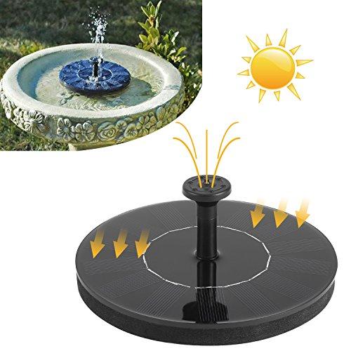 COOCHEER Solar Teichpumpe Springbrunnen mit 7V 1.4W Monokristallinem Solar Wasserpumpe Fontäne Pumpe für Gartenteiche, Fisch-Behälter, Vogel-Bad, Durchfluss 160L/H