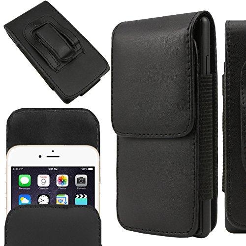 IWIO Samsung Galaxy K Zoom SM-C115 PU-Leder Flip Vertikal page Beutel Tasche mit Gürtelschlaufe - Schwarz