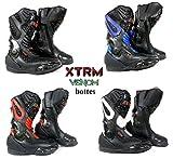 bottes de moto XTRM X1003 VENOM nouveau style bottes armure des sports courses de tourisme (noir, EU 46 (UK 12))
