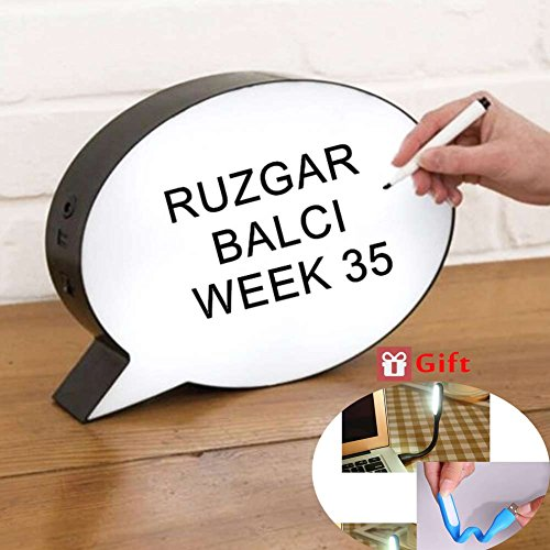 Message Board Licht-Box,Speech Bubble Light,Handschrift Licht-Box,Leuchten Sprechblase.Geschenk: 2 * USB LED Lichter Bubble Lights Ersatz