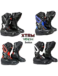 bottes de moto XTRM VENOM sport moto armure course tourisme bottes toutes couleurs