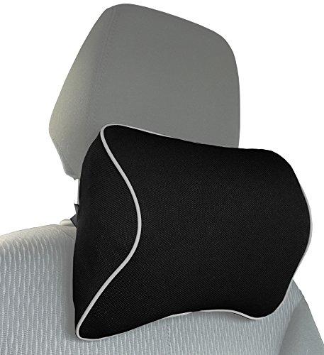 MyGadget Auto Nackenkissen Kopfstütze - Kissen aus Memory Schaum Nacken Stütze beim Fahren - Ergonomische Autositz Nackenstütze mit abnehmbarem Bezug