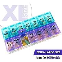 MEDca Wöchentliche Pillenbox, zweimal täglich 1 Pille Organizer Extragroß preisvergleich bei billige-tabletten.eu