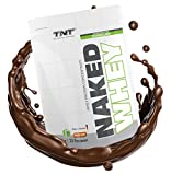 High-quality whey protein concentrate - Weight Loss Protein shake for muscle building and slimming Aspartame free, gluten free with BCAA TNT NAKED WHEY protein powder 1kg bag - CHOCOLATE