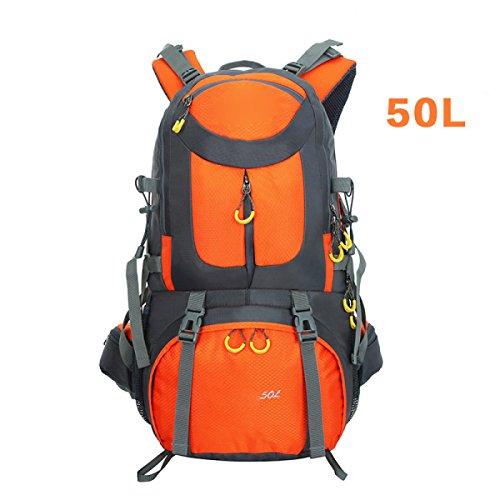 Wasser-resistent Outdoor Sport Reisen Wandern Rucksäcke Trekking Rucksäcke,Purple Orange