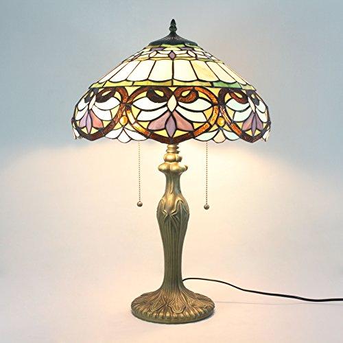 16 pollici barocco floreale cintura nera pastorale minimalista stile tiffany lampada da tavolo lampada da comodino lampada di living room bar lamp