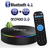 T95Q Android 9.1 TV BOX 4GB RAM 64GB ROM Amlogic S905X2 Quad-core Cortex-A53 Bluetooth 4.1 HDMI 2.1 H.265 4K Risoluzione 1000M Ethernet 2.4GHz e 5GHz Dual Band WiFi Video Player