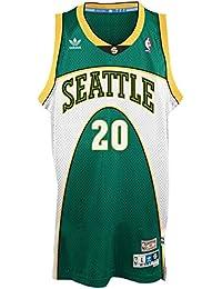 Adidas Gary Payton Seattle Supersonics NBA Throwback Swingman – Camiseta – Green