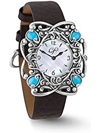 Sleeping Beauty Turquoise and Mother of Pearl Leather Watch