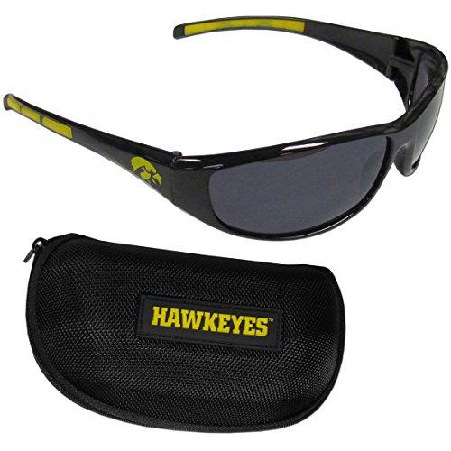 Siskiyou NCAA Iowa Hawkeyes Sonnenbrille mit Reißverschlussetui, Schwarz