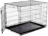 AmazonBasics Single-Door Folding Metal Dog Cage - Large