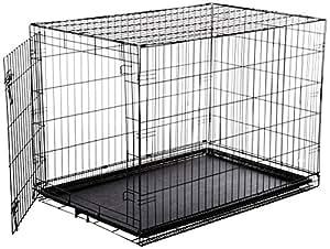 AmazonBasics Single-Door Folding Metal Dog Cage - Large