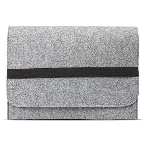 eFabrik ROYALZ Tasche für Lenovo IdeaPad 320S / IdeaPad 330s Schutztasche aus Filz Filztasche Case Sleeve Soft Cover Schutzhülle Sleeve, Farbe:Grau