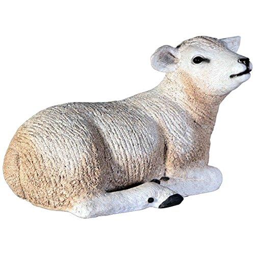 Laine de mouton mouton couché 30 cm pour l'extérieur en polyrésine picorent
