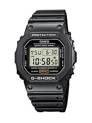 CASIO G-Shock DW-5600E-1VER de cuarzo, correa de resina color varios colores (con cronómetro, alarma)