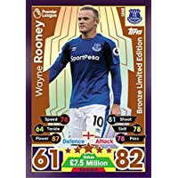 a0fa7054c MATCH ATTAX 17 18 WAYNE ROONEY BRONZE LIMITED EDITION CARD LE6B - EVERTON  2017
