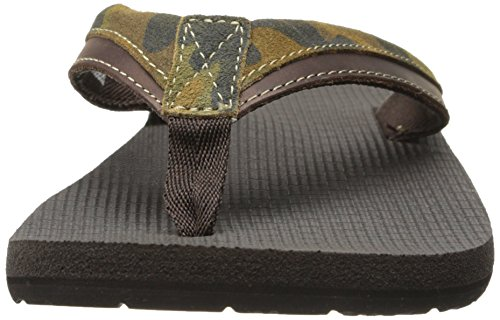 Sanuk Beer cozy primo light men's leder zehentrenner thong. New Brown/Camo